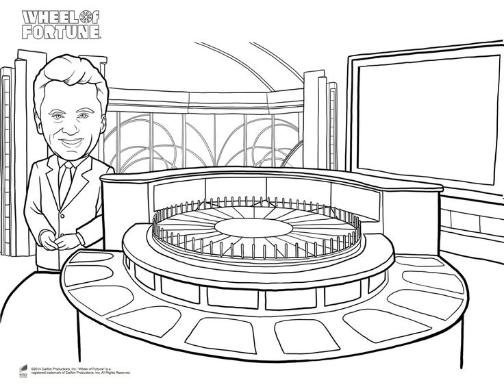 wheel of fortune coloring pages - photo#6