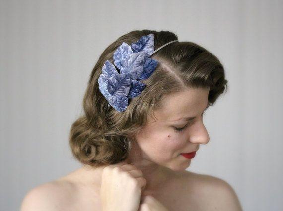 Fascia blu polveroso fiordaliso blu capelli accessorio