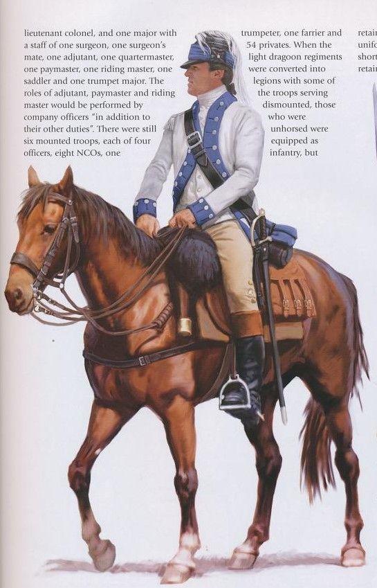 American; 3rd Continental Light Dragoons, Officer, 1781
