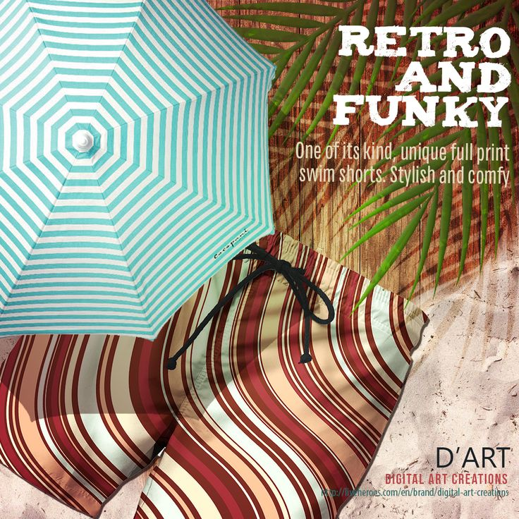 #retro #funky #beachwear #waves #organic #curves #fashion #shorts #bermudas #trousers #fashion #swimshorts #liveheroes #digitalarcreations