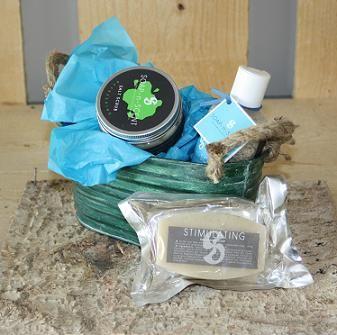 Scrub, zeep en badzout in een leuk blik. Fair Trade! € 14,95