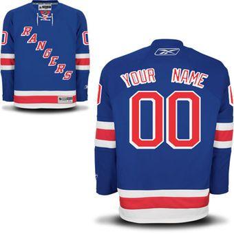 Reebok New York Rangers Men's Premier Home Custom Jersey - Blue