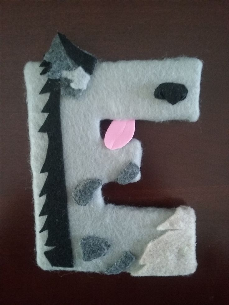 """Lion King name letters wrapped in fabric! Hyena Ed """"E"""""""