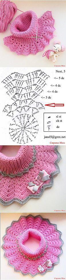 Манишка для девочки - быстро и удобно - Вязание - Страна Мам