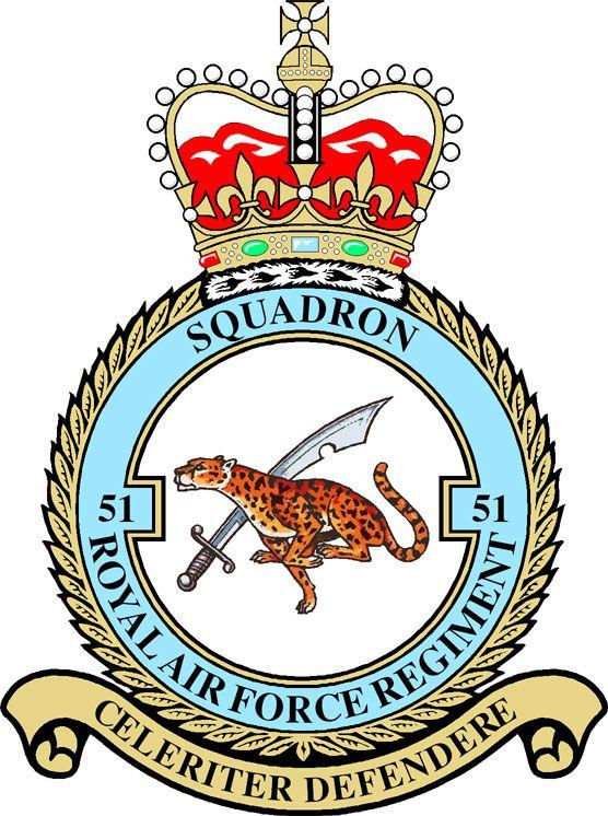 51 Squadron RAF Regiment Badge