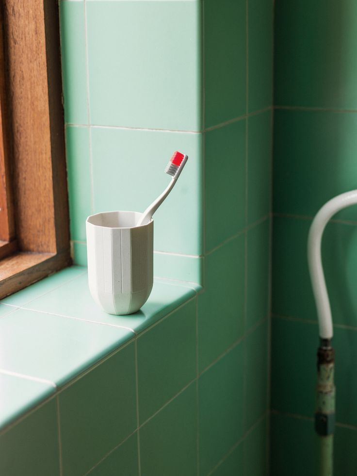 Tann toothbrush and Paper Porcelain mug.