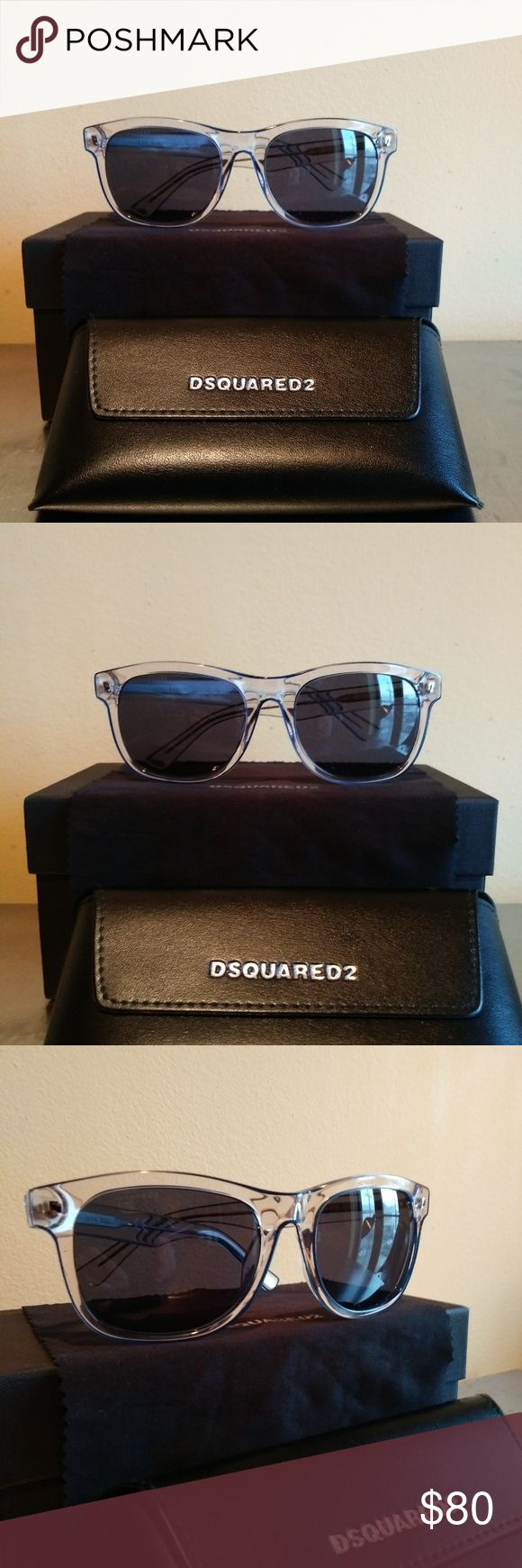 Dsquared Sunglasses Clear frame with scratch proof lense. Excellent next to new condition DSQUARED Accessories Sunglasses