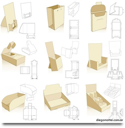 Box & Packaging Templates - Vector eps Files. 66 Styles.