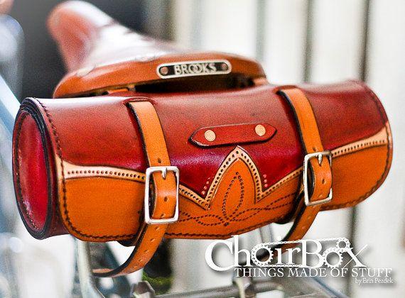 Leather Bicycle Handlebar or Saddle Bag
