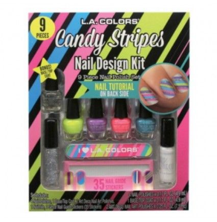 L. A. COLORS Candy Stripes Nail Design Kit - Candy Stripes