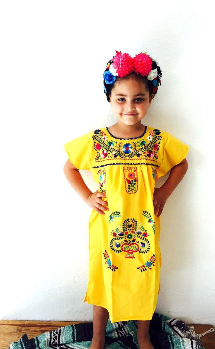 Mexican Embroidered Girls Dress Yellow Coco Inspired Costumes Fiestas Just Around The Corner Dress Your Girl In A Frida Inspired Kids Dress In 2021 Mexican Embroidered Dress Embroidery Dress Mexican Girls Fashion [ 1192 x 736 Pixel ]