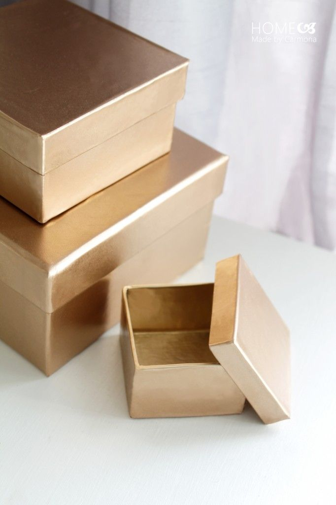 how to make a box with cardboard paper