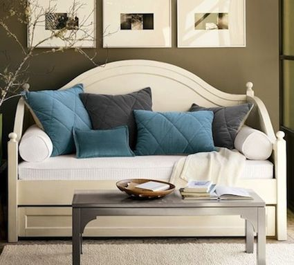 DIY-Turn your trundle bed into a sofa!