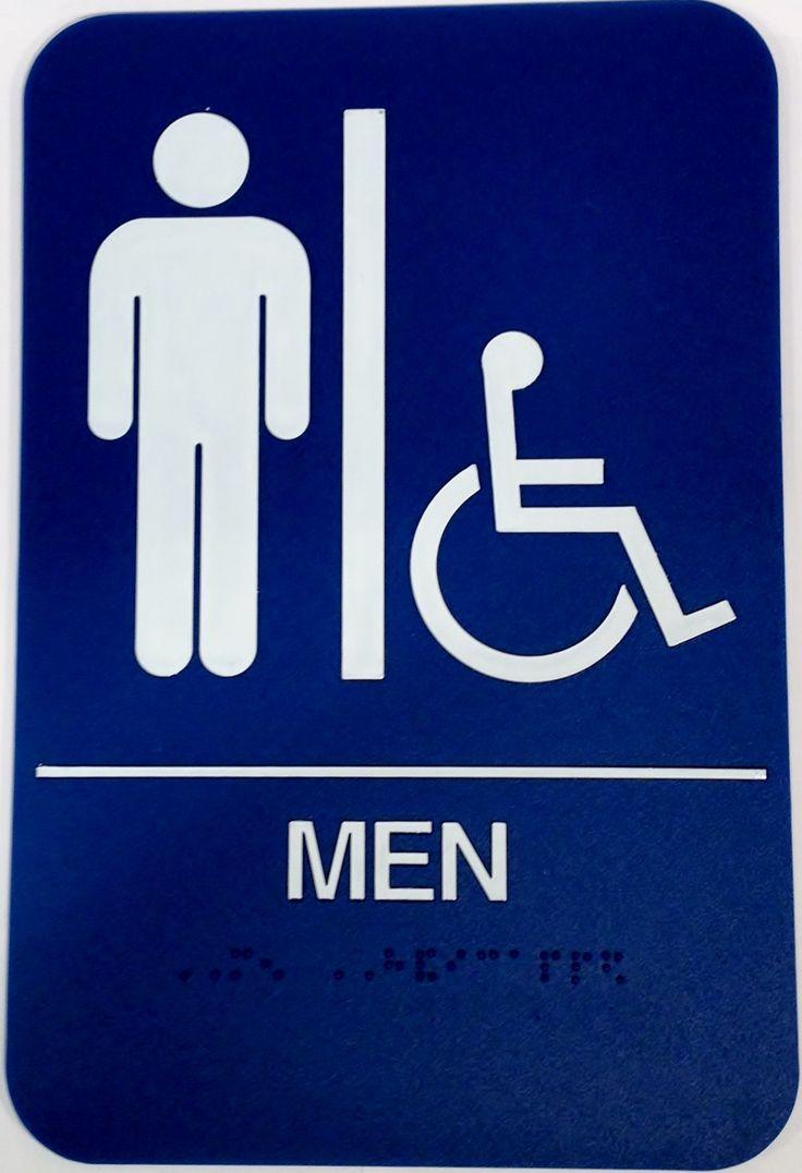 bathroom sign with arrow men s handicap restroom sign - Handicap Bathroom Signs