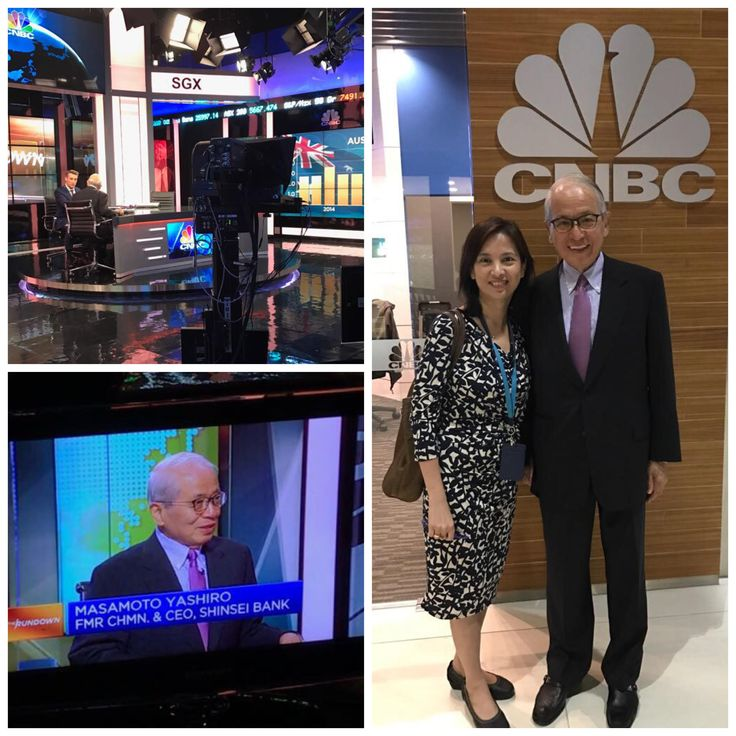 Our CEO Florence Fang with Mr Masamoto Yashiro, ex-Chairman of Shinsei Bank at CNBC Asia studio at SGX Spore. Mr Yashiro was sharing insights on the importance of stewardship values in Japanese corporate environment. #stewardship #leadership #values