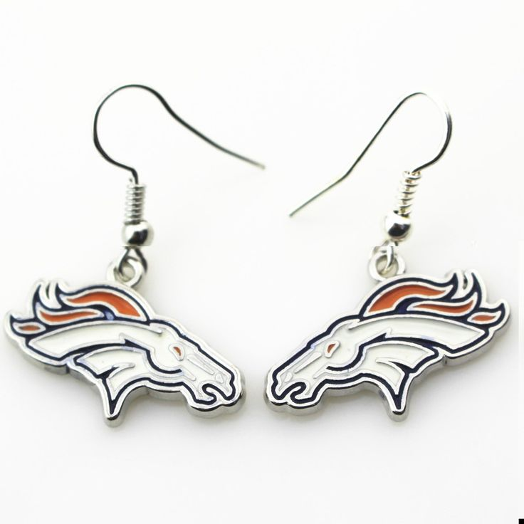 New arrive 6pair/lot Denver Broncos NFL team sports earrings women erring USA football team jewelry