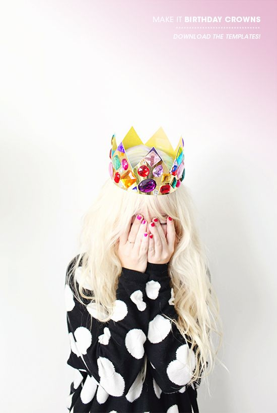 crown on her head