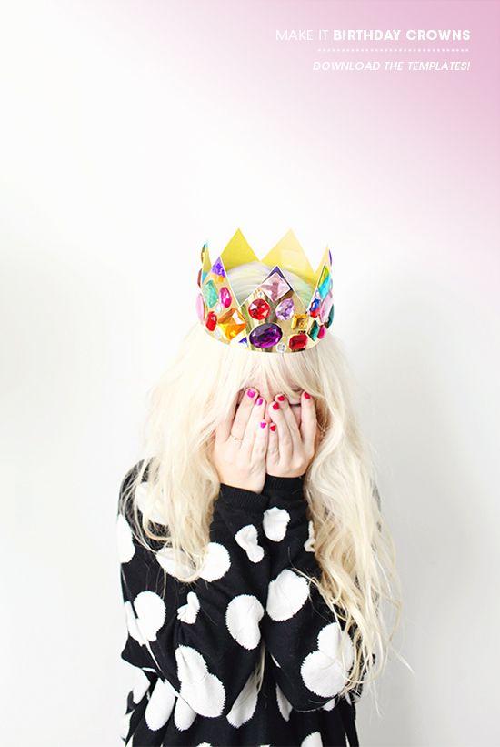 Birthday crown printable and DIY~