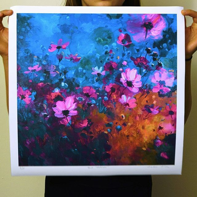 'Blue Treasure' print now available on my online shop! Link in bio. :) #art #painting #affordableart #irishart #summer #cosmos #floral #floralpainting #flowers #artistic_today #love_ arts_help #art_we_inspire #artinspiration2017 #acrylic