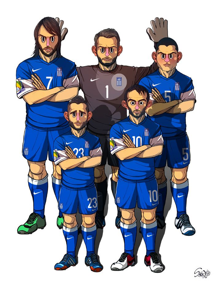[2014 World cup Edition] C team : Greece by sakiroo.deviantart.com on @deviantART