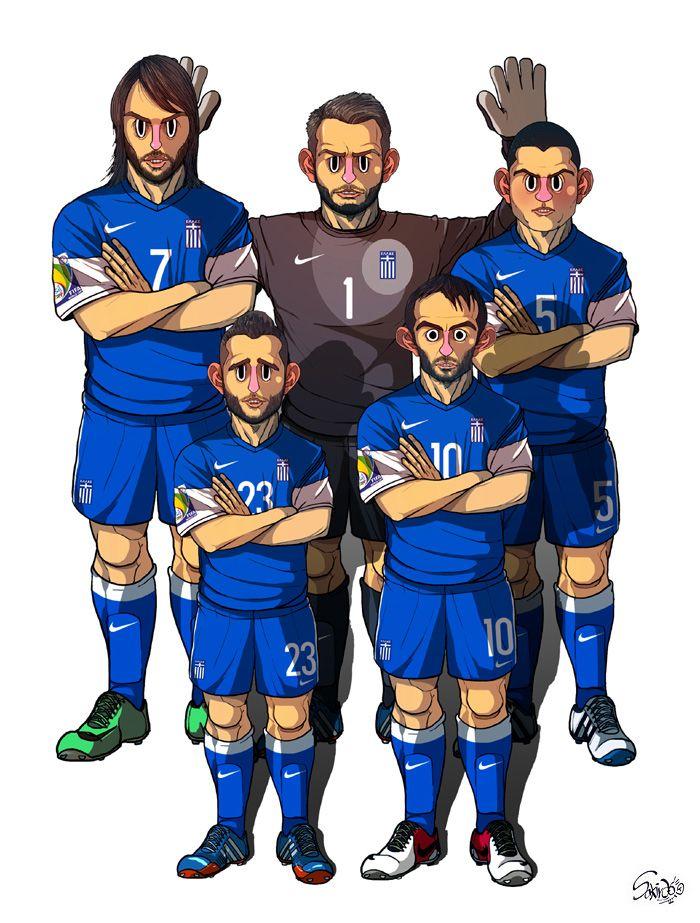 [2014 World cup Edition] C team : Greece by sakiroo.deviantart.com on @deviantART
