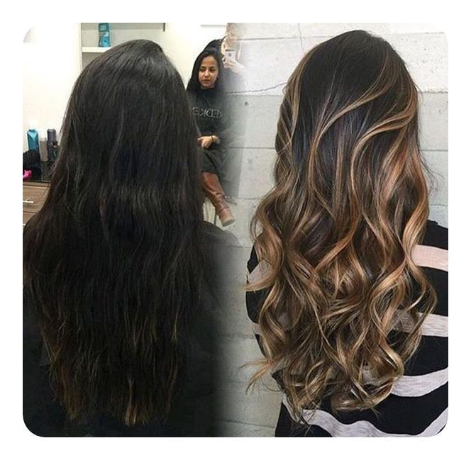 79 Awesome Black Hairstyles Featuring Highlights Awesome Black Featuring Hairstyles Highlights Hair Styles Long Hair Styles Hair Color Highlights