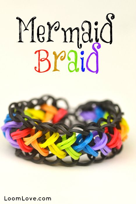 How to Make a Mermaid Braid - Rainbow Loom video tutorial