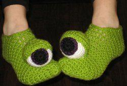 Monster slipper pattern
