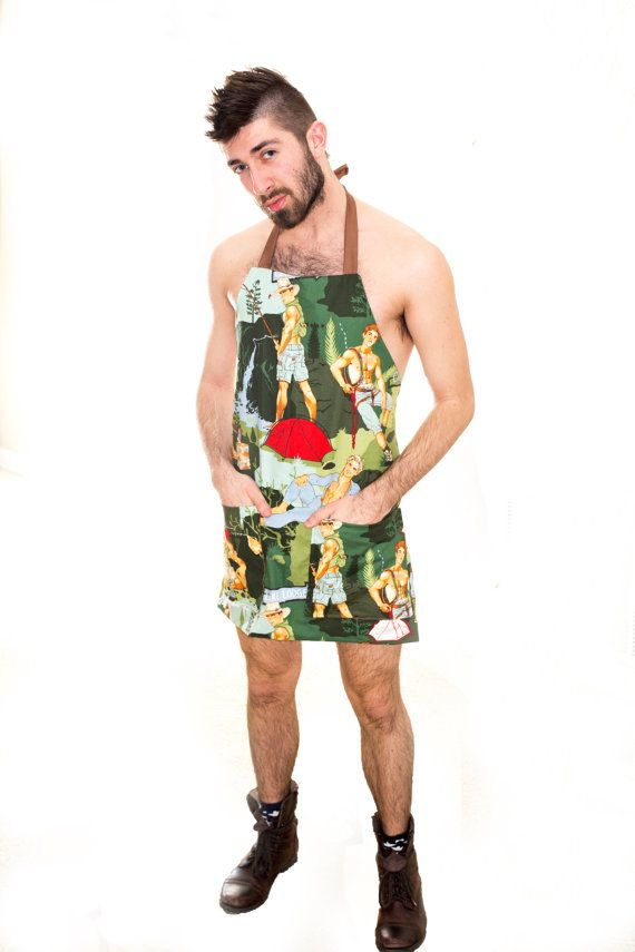 Happy Campers Pinup Apron (Unisex Adult)
