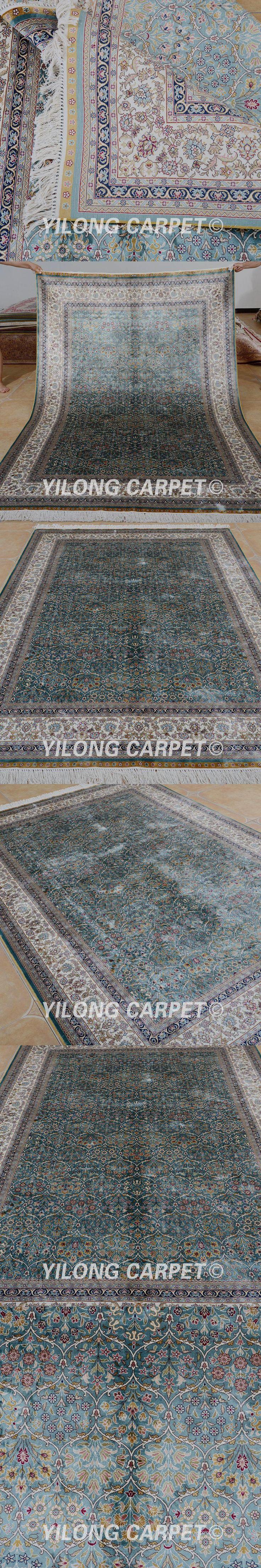 Best 25 carpet for sale ideas on pinterest colorado houses yilong 55x8 hereke carpet rectangle vantage blue turkish rugs for sale silk dailygadgetfo Choice Image