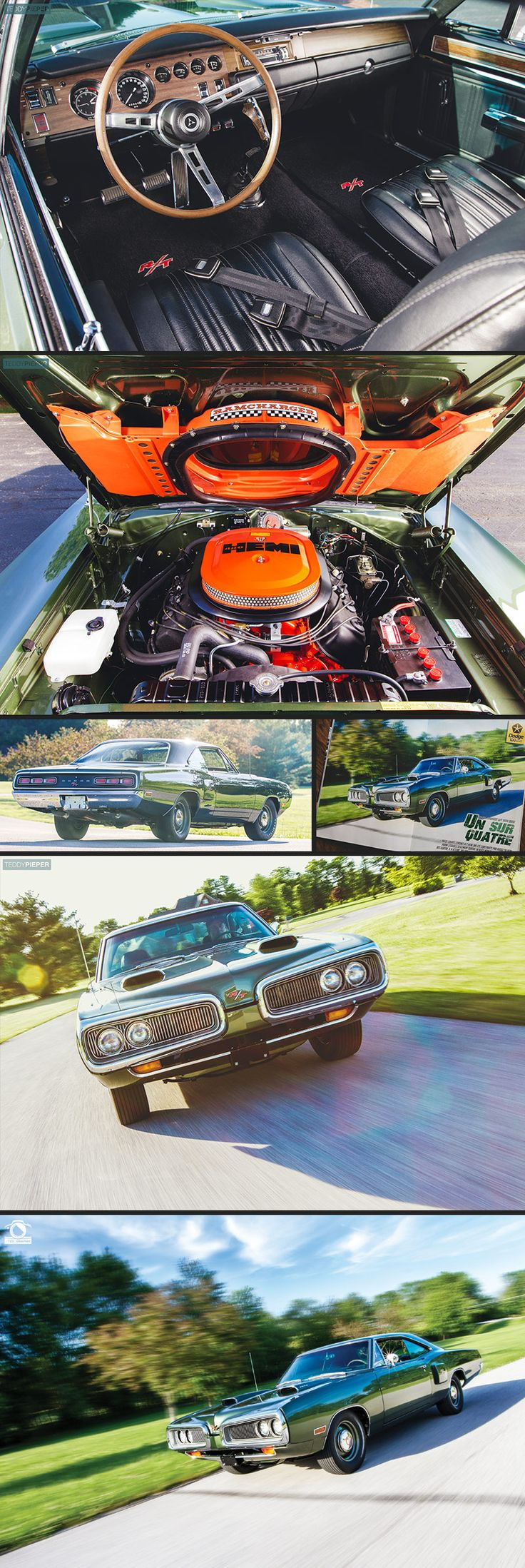 """was the first to officially be designated """"Hemi"""". The 426 Hemi was first produced for use in #NASCAR. After being banned. Chrysler introduced the """"Street"""" #Hemi in 1966 just to sell the required number of Hemi engines to the public to legally use it for the 1966 NASCAR season. This 1970 #Dodge Hemi #Coronet R/T pictured. is an example of one of the rarest Hemi 4-speed #Mopars ever built. Can you say #Rare? --- 2017 #Calendars are on Sale Now!  --- www.tedisgraphic.com/shop"""