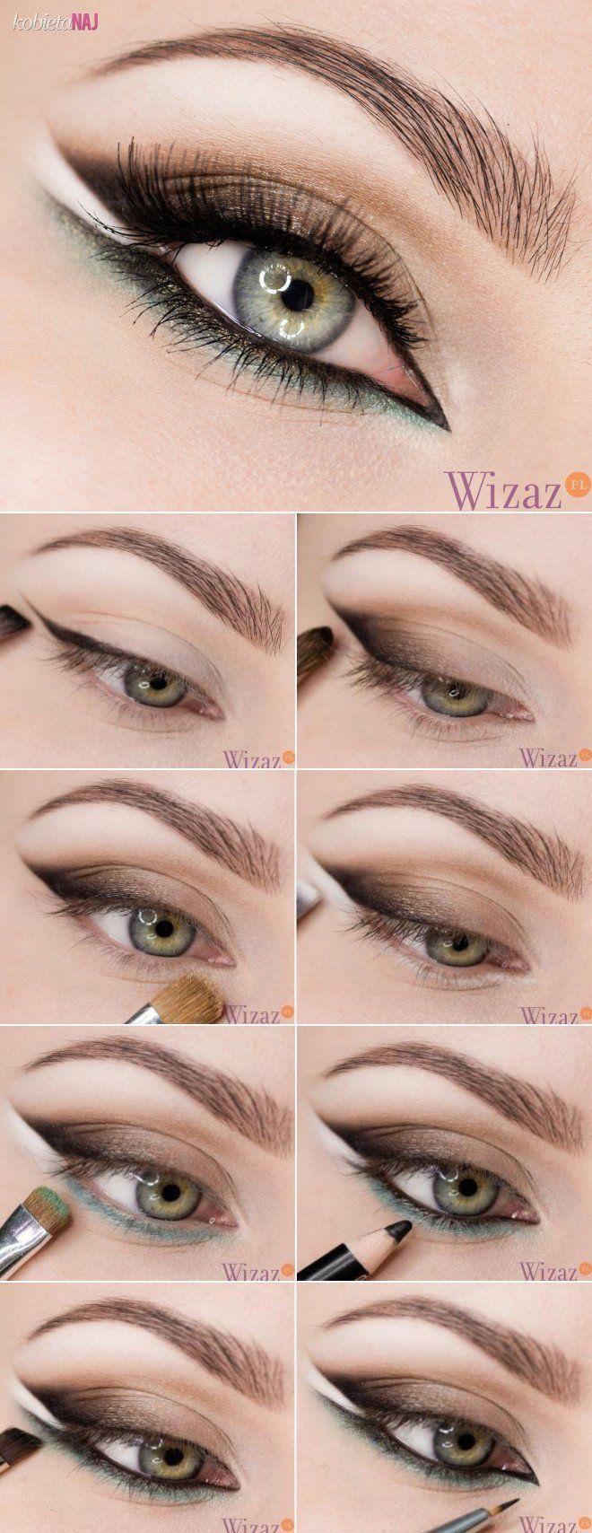 Boski make up z białą kreską - Instrukcja krok po kroku...