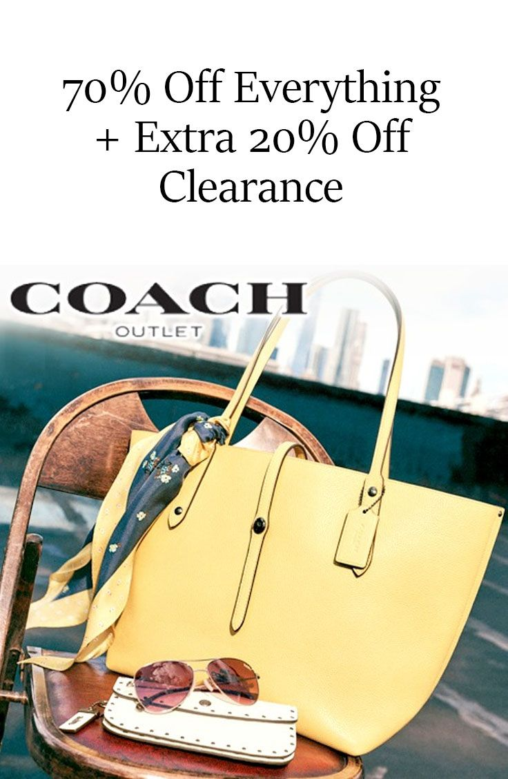 6f81590a3b2b Coach Outlet Coupon  70% Off Everything + Extra 20% Off Clearance ...