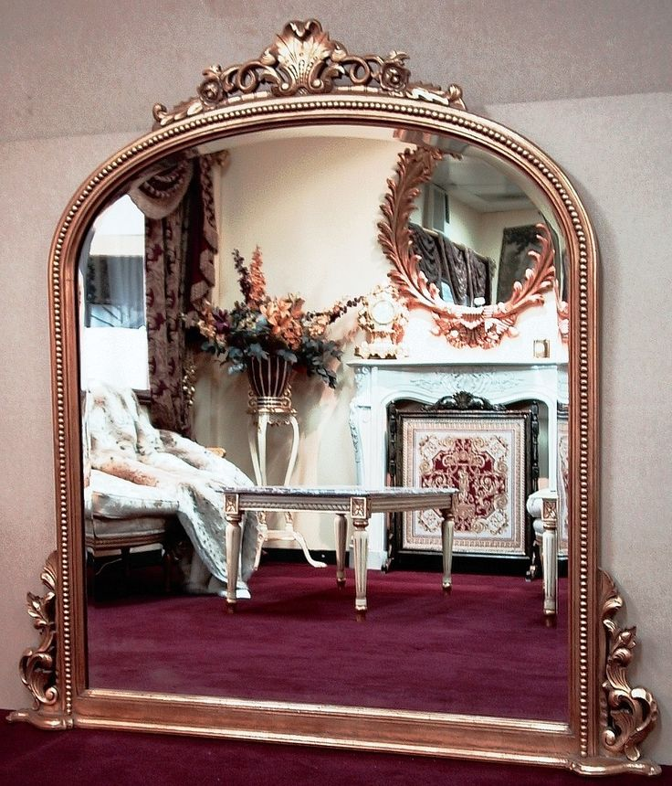 P.C. Round Top Mantle Carved Mirror | Temple & Webster