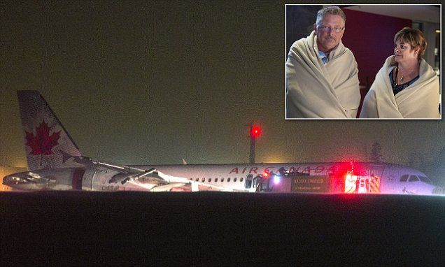 Air Canada plane makes crash landing at Halifax Airport #DailyMail | See this & more at: http://twodaysnewstand.weebly.com/mail-onlinecom