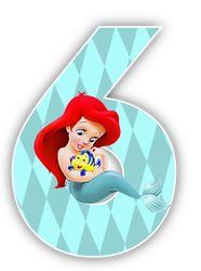 Oh my Alfabetos!: Alfabeto de la Sirenita con Flounder.
