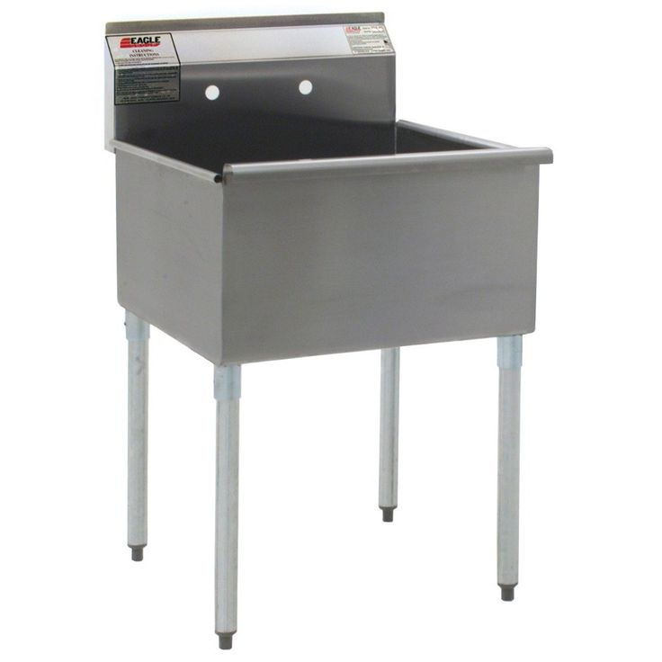 """Eagle Group 2124-1-16/4 One Compartment Stainless Steel Commercial Sink without Drainboard – 25 3/8"""""""