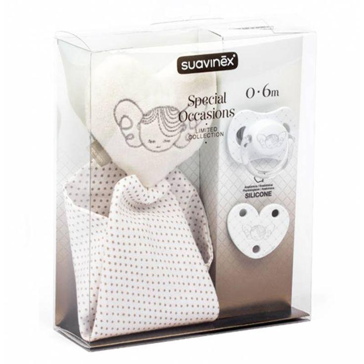 Suavinex set de chupete con cadenita y doudou  ajuego. #bebes #farmacia #chupetes #suavinex