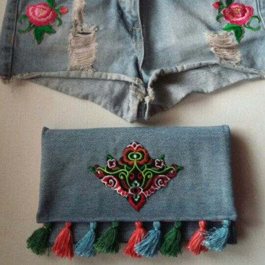 Folk style with beautiful embroidery patch details