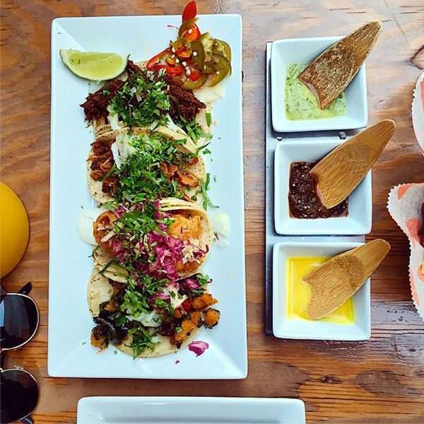 The 30 Most Instagrammed Restaurants In S.F. #refinery29  http://www.refinery29.com/san-francisco-restaurants-instagram#slide-3  Tacolicious   Tacolicious' selection of zesty tacos and color-soaked salsas are almost too pretty to eat. Almost.  Tacolicious, 2031 Chestnut Street (at Fillmore Street); 415-346-1966.