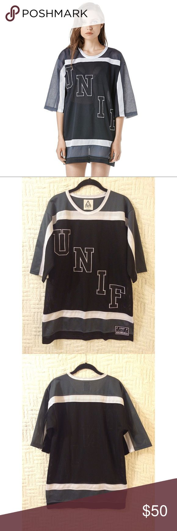UNIF Hockey Jersey UNIF hockey jersey size small in good condition.  No trades / modeling.  {closet8} UNIF Tops Tees - Short Sleeve