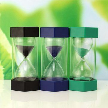 New 10 Minutes Plastic Frame Sand Glass Sandglass Hourglass Timer Clock Decor is Optional Mobile