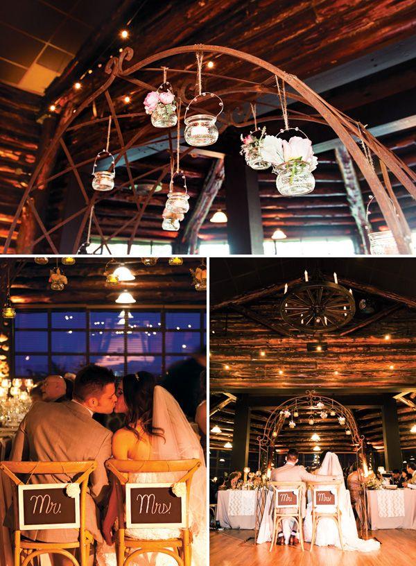 Warm & Cozy Cabin Wedding {Rustic + Glam} // Hostess with the Mostess® blog.hwtm.com