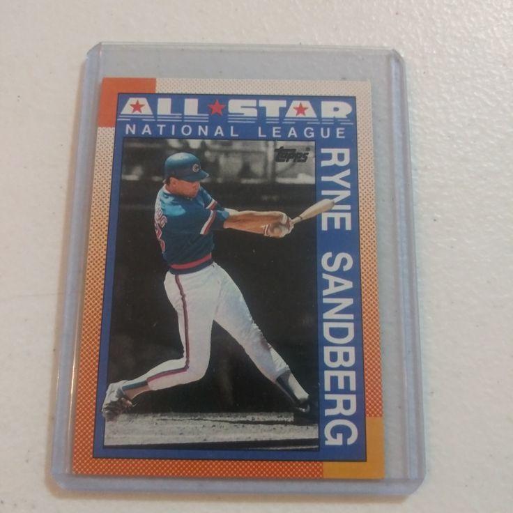 Rare Ryne Sandberg 1990 Topps 398 All Star Baseball Card