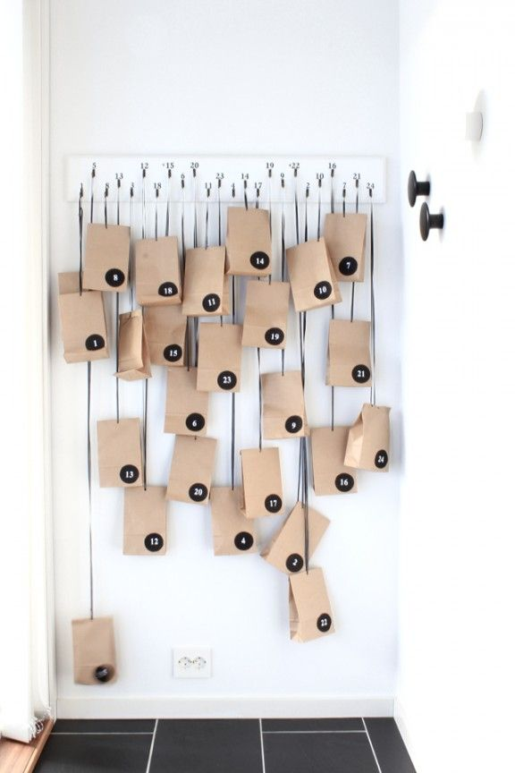 DIY Advent Calendar via Tonje Boganes | www.gimmesomeoven.com/style #diy #advent #christmas #calendar