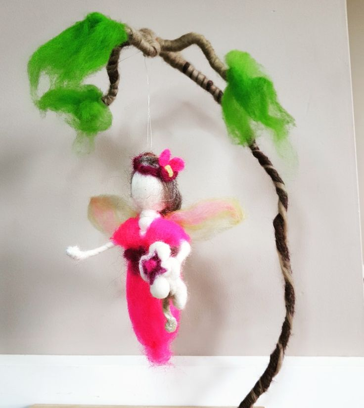 Needle felted fairy by Felicity Cavanough Artist, Sculptor, Crafter. Waldorf inspired. Workshops in needle felting.