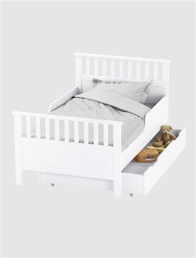 Mitwachsendes Kinderbett 'Récréation' WEIß