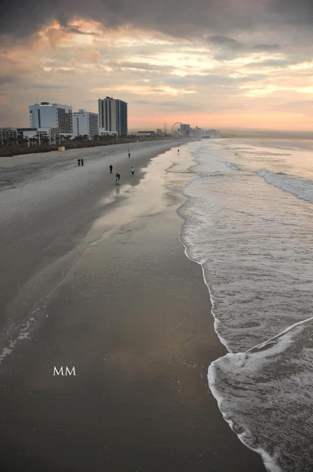 A beautiful shoreline shot from North Myrtle Beach, South Carolina.