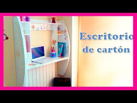 mueble de pared hecho con cartón Diy, tutorial paso a paso, manualidades baratas - YouTube