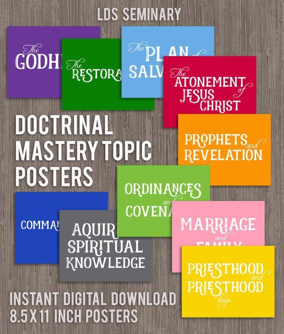 LDS Seminary Doctrinal Mastery Topic by JillianFarnsworthART